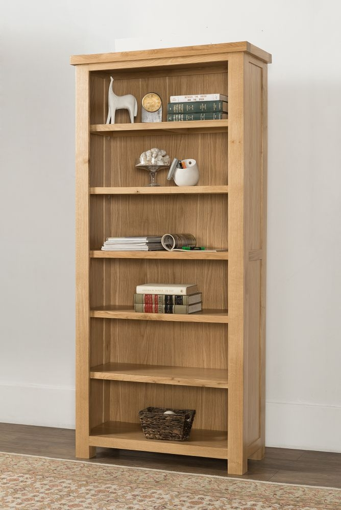 Cambridge Oak Tall Wide Bookcase
