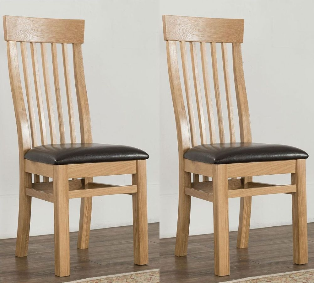 Cambridge Oak Valencia Dining Chairs (Pair)