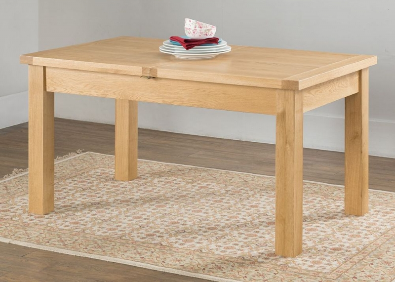 Cambridge Oak Large Butterfly Extending Dining Table