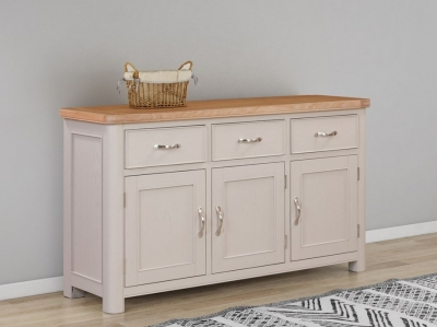 Clarion Oak and Grey Painted Large Sideboard