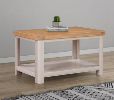 Clarion Oak and Grey Painted Standard Coffee Table
