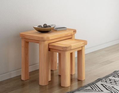 Clarion Oak Nest of Tables