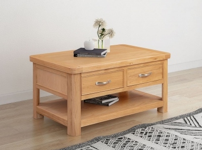 Clarion Oak Storage Coffee Table