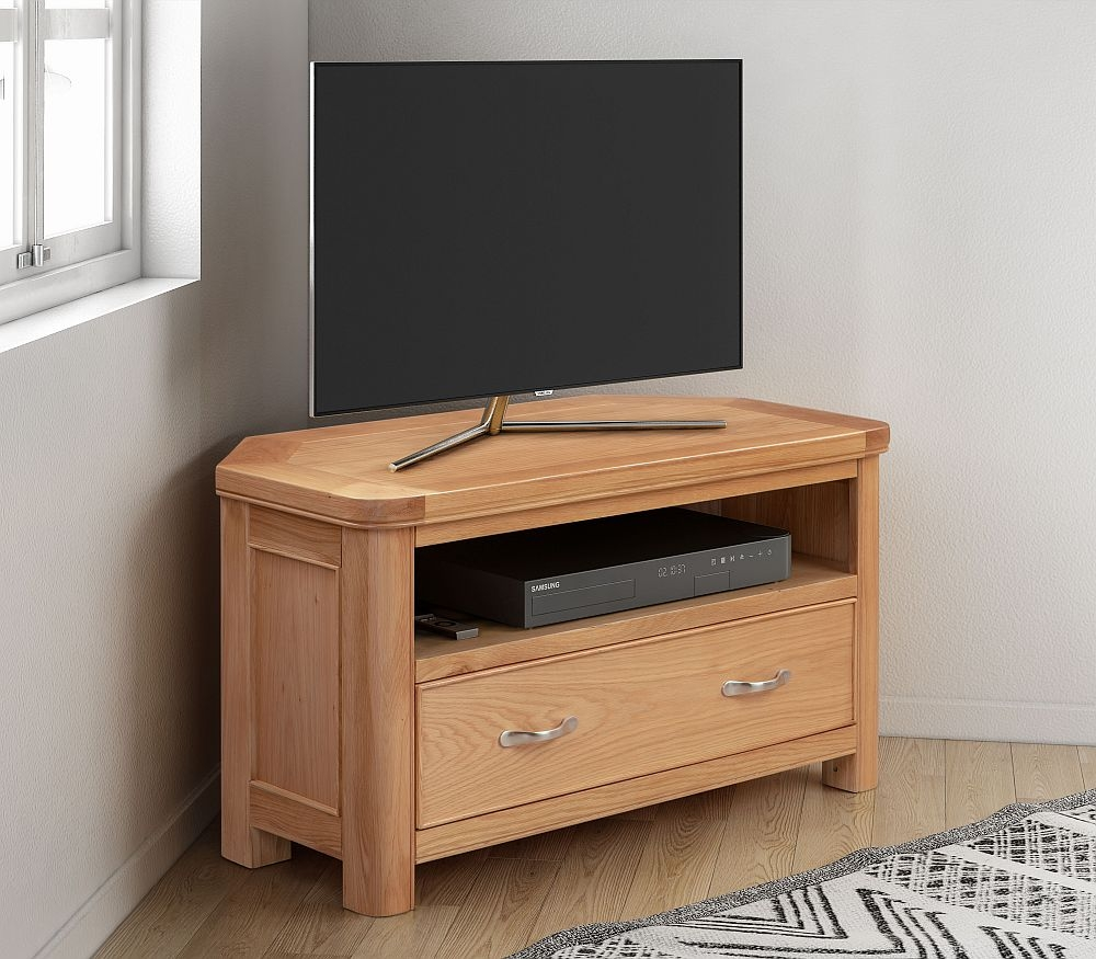 Clarion Oak Corner TV Unit