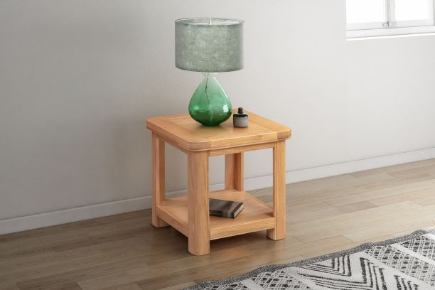 Clarion Oak Lamp Table