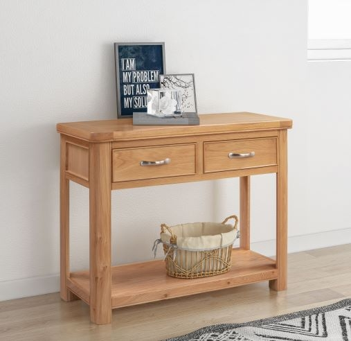 Clarion Oak Large Console Table