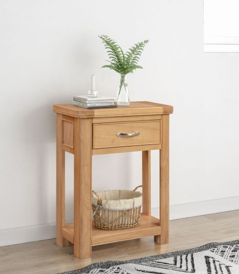 Clarion Oak Small Console Table
