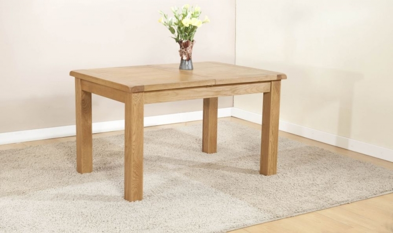 Product photograph showing Dorset Oak Large Extending Dining Table