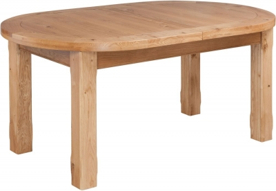 Fairford Oak Oval Extending Dining Table