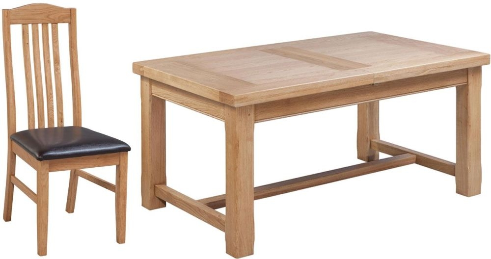 Fairford Oak Extending Dining Table and Graham Chairs