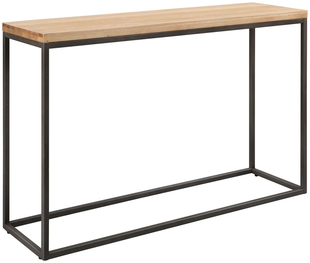 Pergo Industrial Weathered Oak Console Table