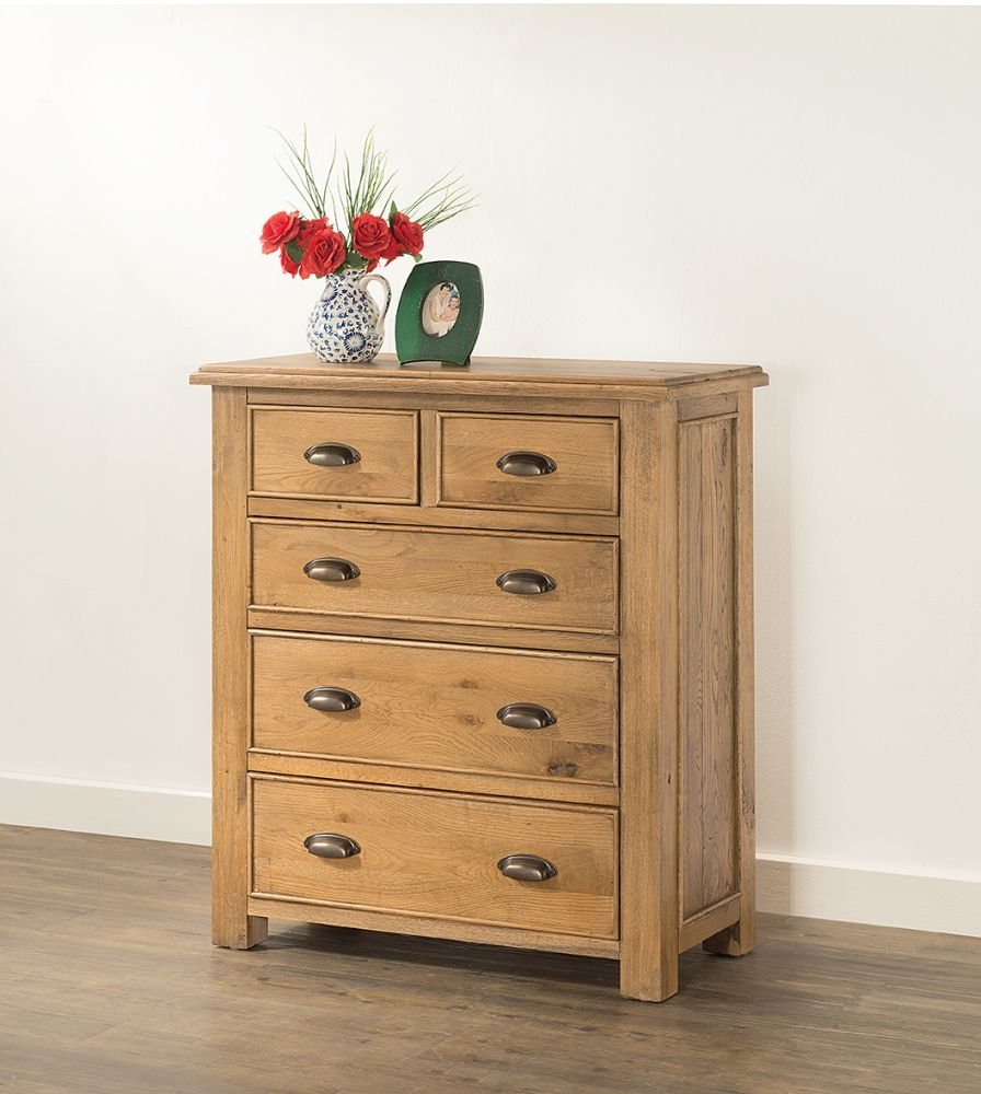 Rustica Oak 2+3 Drawer Chest