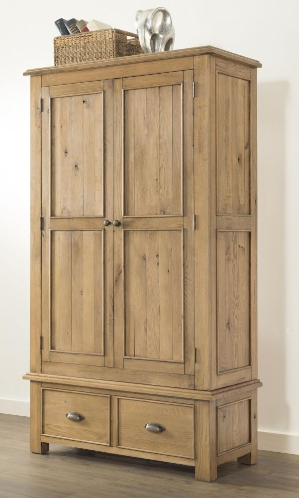 Rustica Oak 2 Door Wardrobe