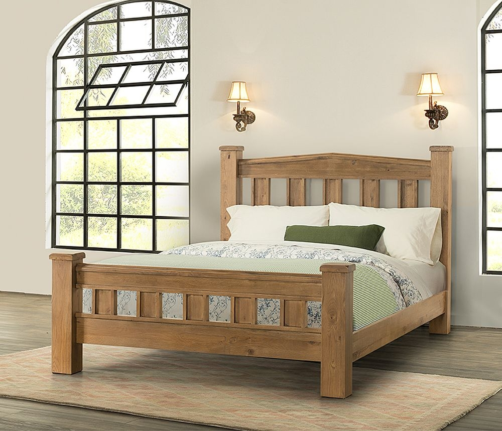 Rustica Oak Chunky Bed