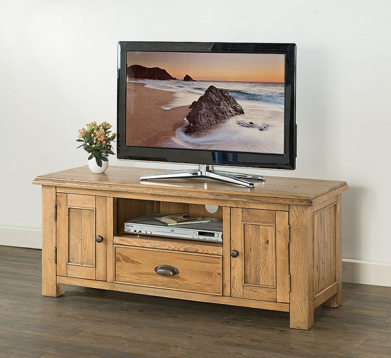 Rustica Oak Large TV Unit