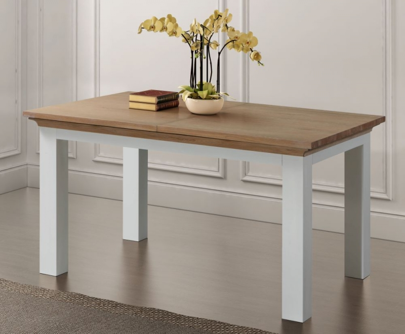 Sandringham Extending Dining Table - Oak and White Painted