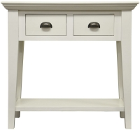 The Wicker Merchant Matt White Console Table