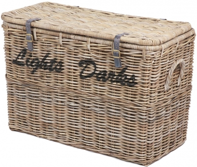 The Wicker Merchant Light and Dark Laundry Basket