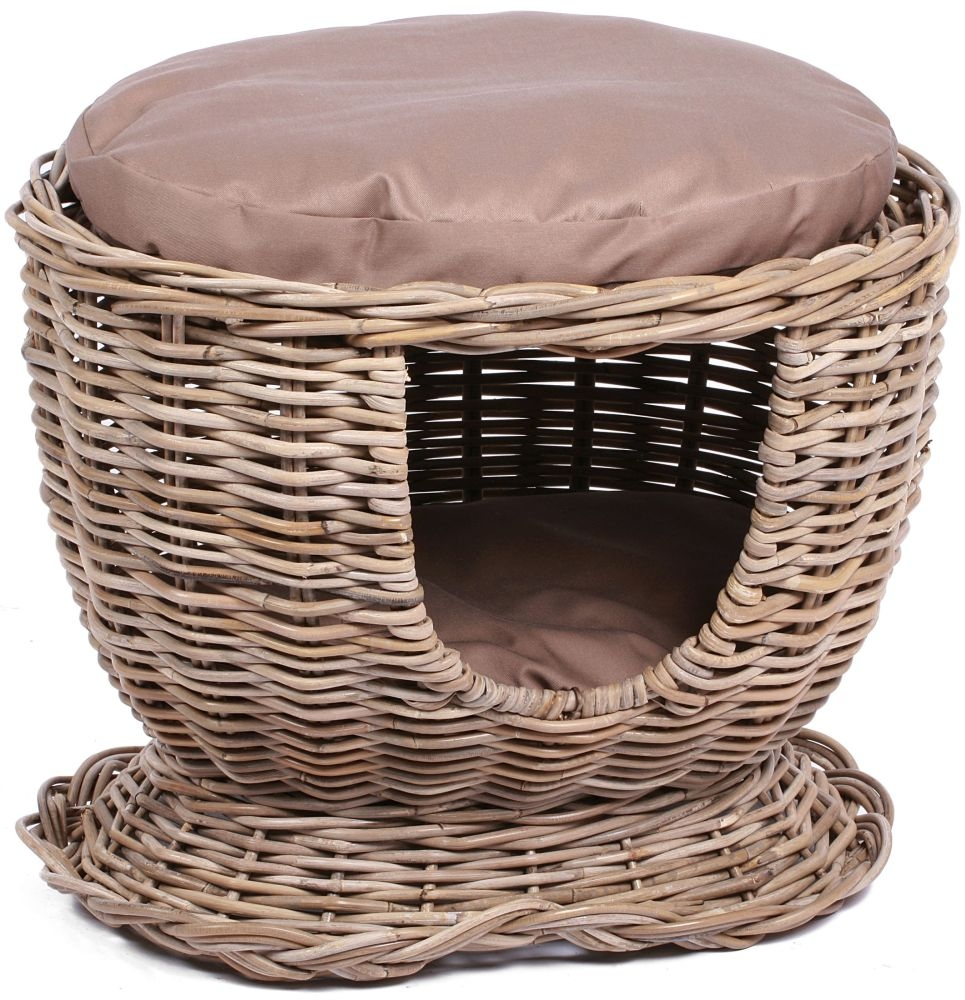 The Wicker Merchant Pet House with Cushion