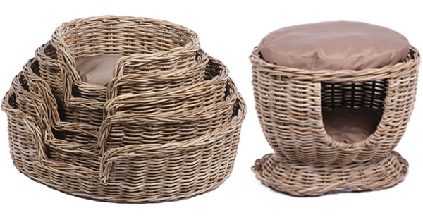 The Wicker Merchant Pet Baskets and Houses