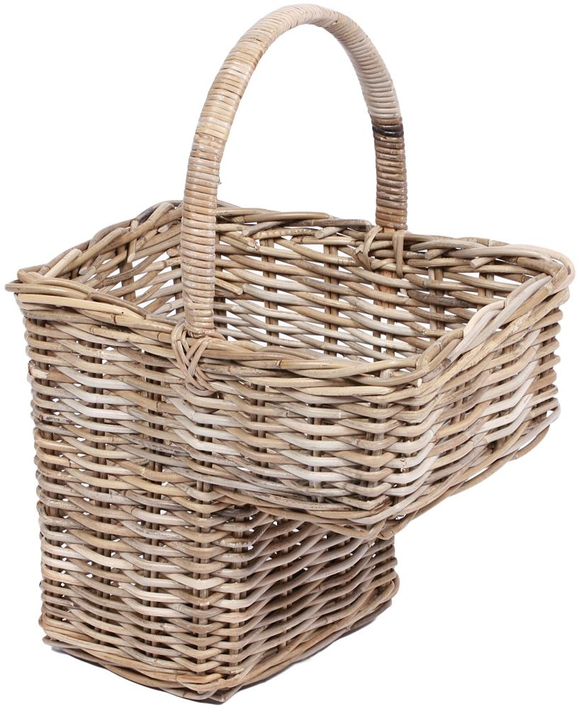 Wicker Basket With Handle Uk : Buy the wicker merchant step basket with high handle