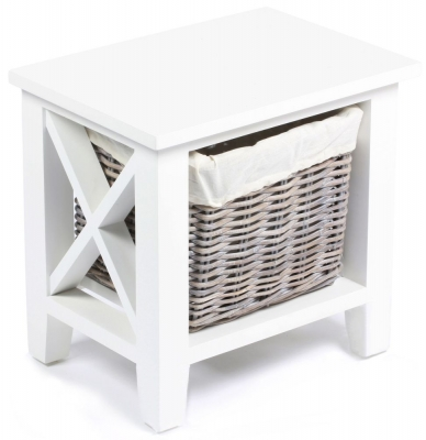 The Wicker Merchant 1 Basket Cabinet with Cotton Linings