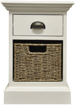 The Wicker Merchant 1 Drawer 1 Basket Unit
