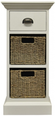 The Wicker Merchant 1 Drawer 2 Basket Unit