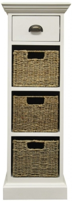 The Wicker Merchant 1 Drawer 3 Basket Unit