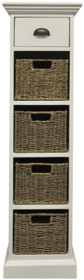 The Wicker Merchant 1 Drawer 4 Basket Unit