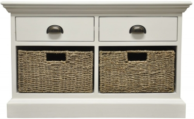 The Wicker Merchant 2 Drawer 2 Basket Unit