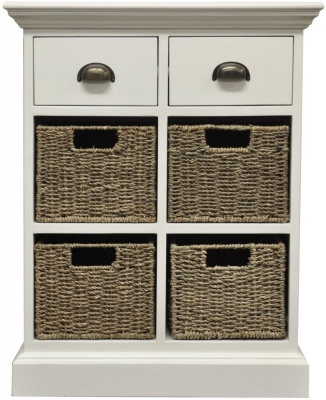 The Wicker Merchant 2 Drawer 4 Basket Unit