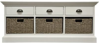 The Wicker Merchant 3 Drawer 3 Basket Unit