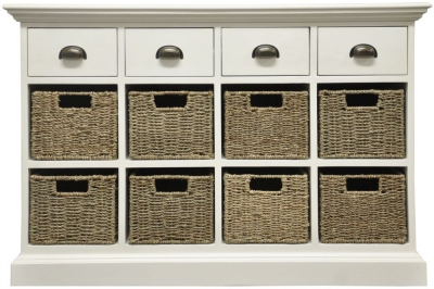 The Wicker Merchant 4 Drawer 8 Basket Unit