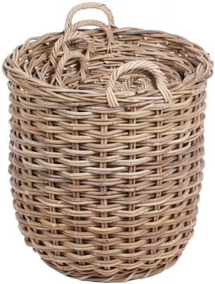 The Wicker Merchant Round Baskets with Ear Handles (Set of 4) WW-002