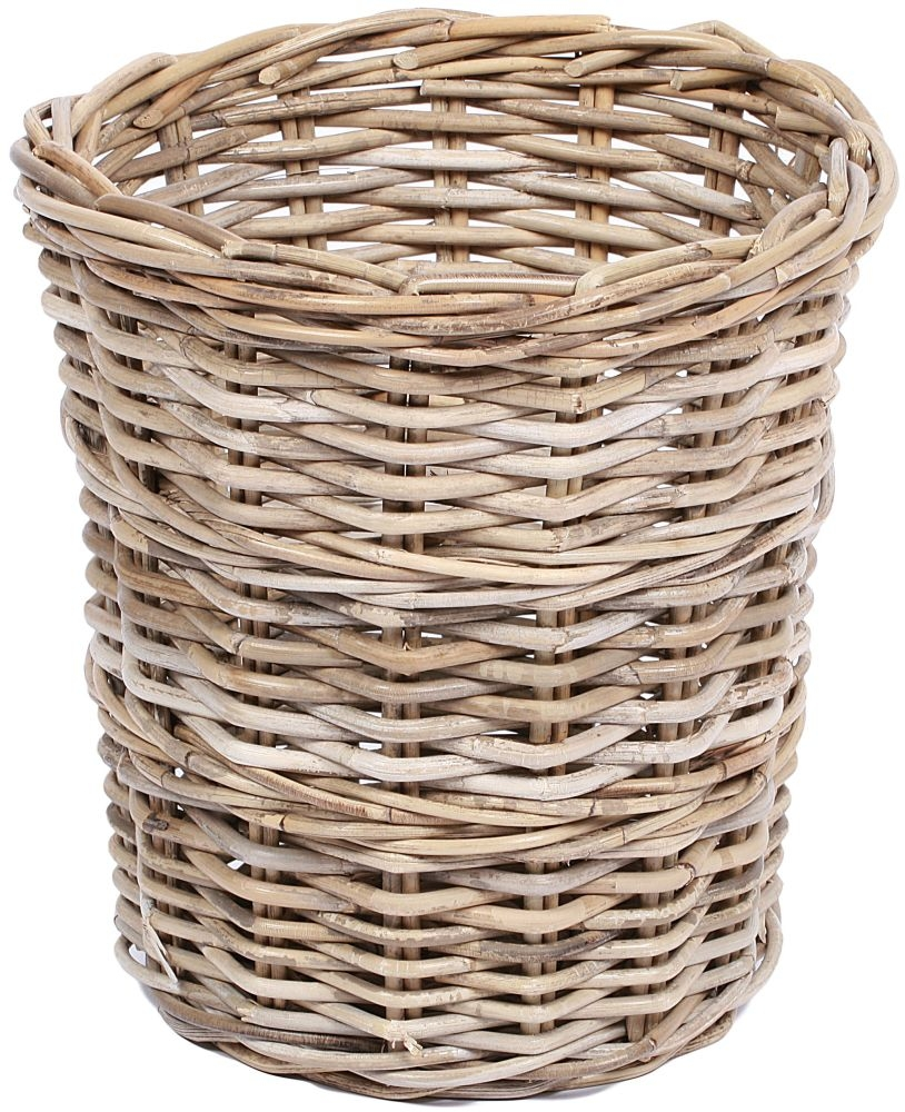 The Wicker Merchant Round Tapered Basket with Borders