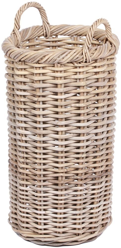 The Wicker Merchant Round Tapered Basket with Ear Handles