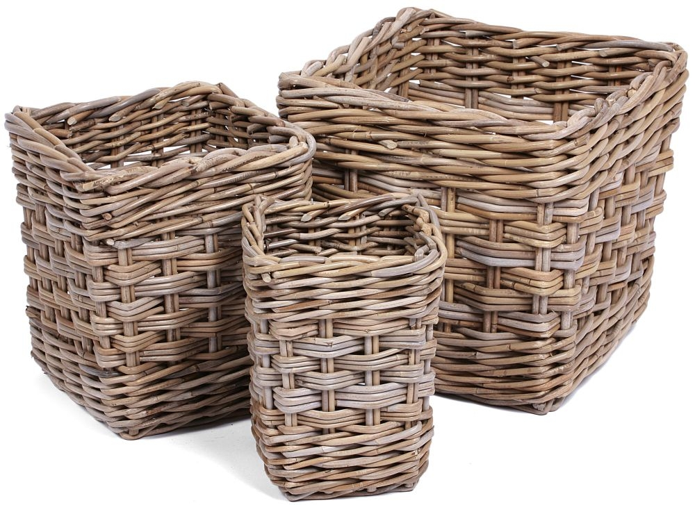The Wicker Merchant Square Baskets (Set of 3)