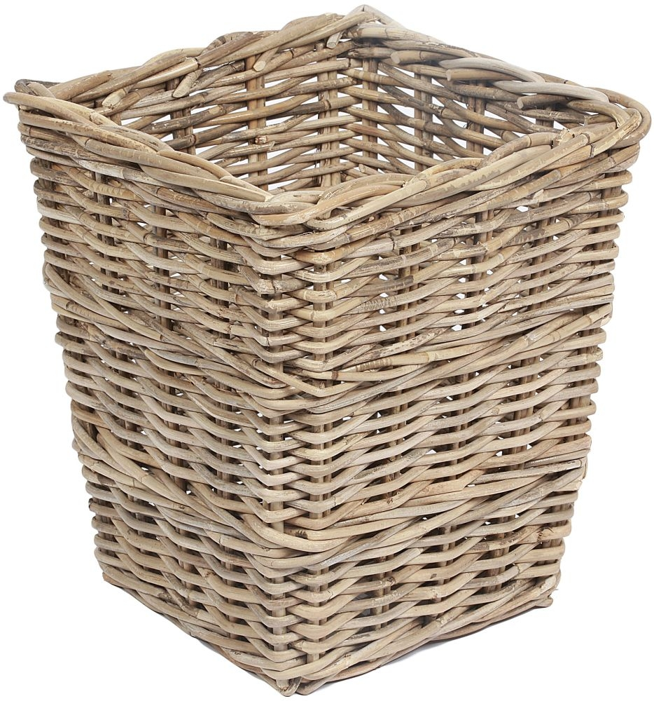 The Wicker Merchant Square Tapered Basket with Borders
