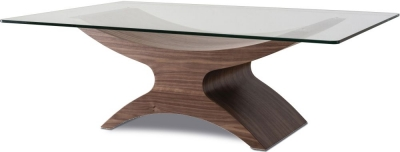 Tom Schneider Atlas Glass Top Coffee Table