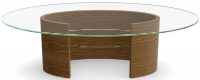 Tom Schneider Ellipse Glass Top Coffee Table
