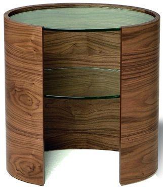 Tom Schneider Ellipse Glass Top Lamp Table