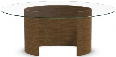 Tom Schneider Ellipse Glass Top Medium Dining Table