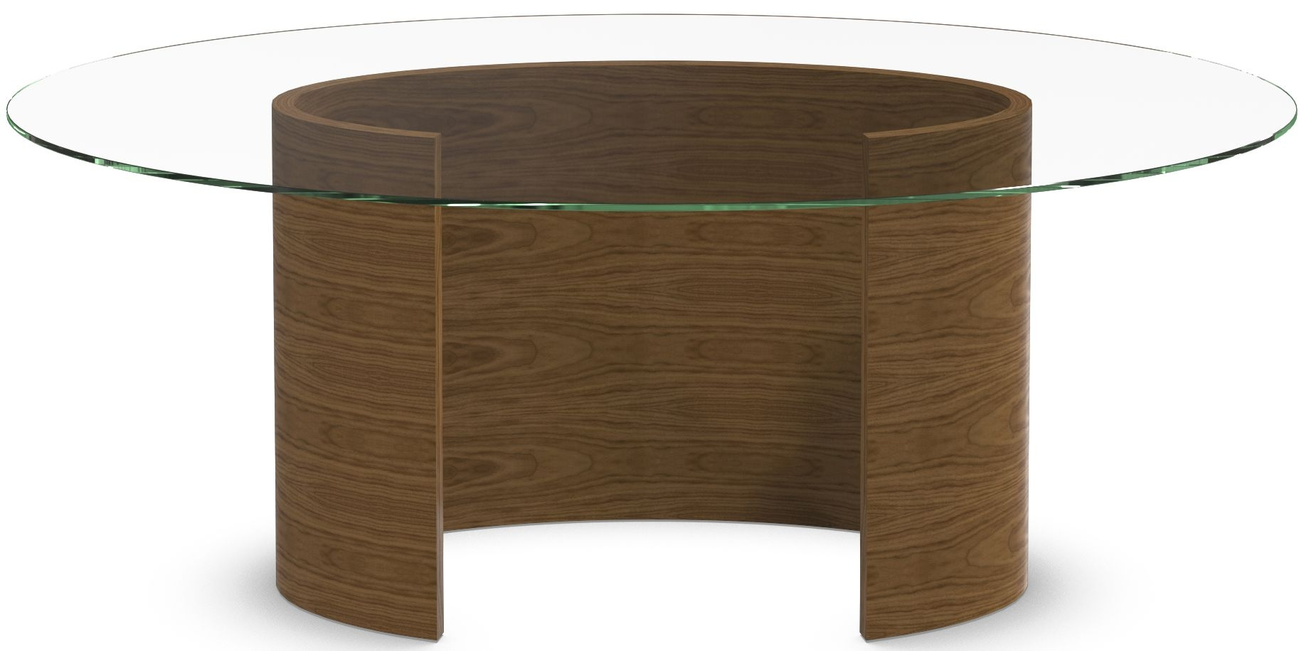 Tom Schneider Ellipse Medium Glass Top Dining Table