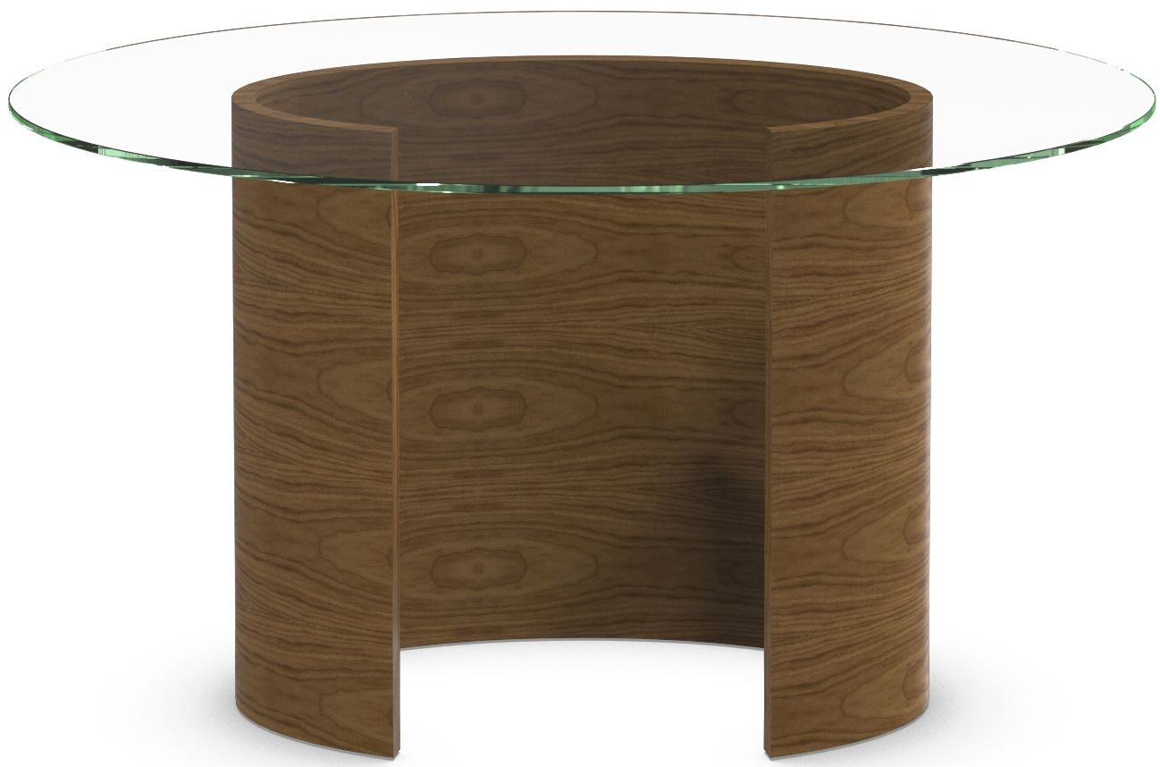 Tom Schneider Ellipse Glass Top Small Dining Table