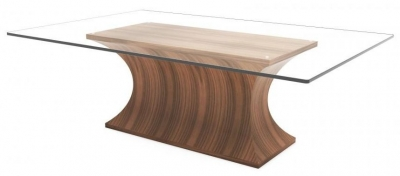 Tom Schneider Estelle Glass Top Coffee Table