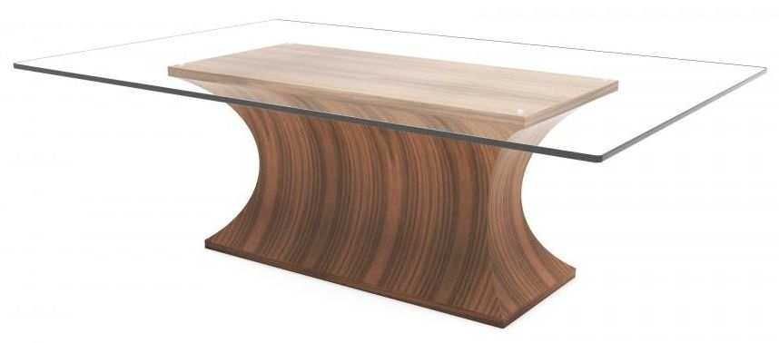 Tom Schneider Estelle Glass Top Coffee Table