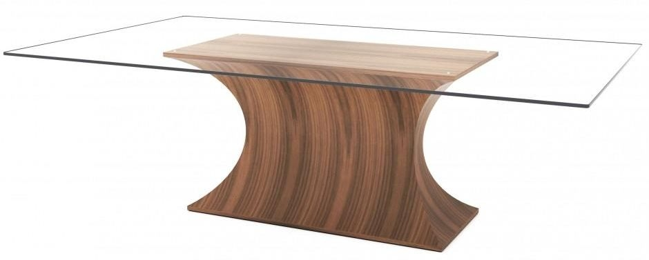 Tom Schneider Estelle Large Glass Top Dining Table