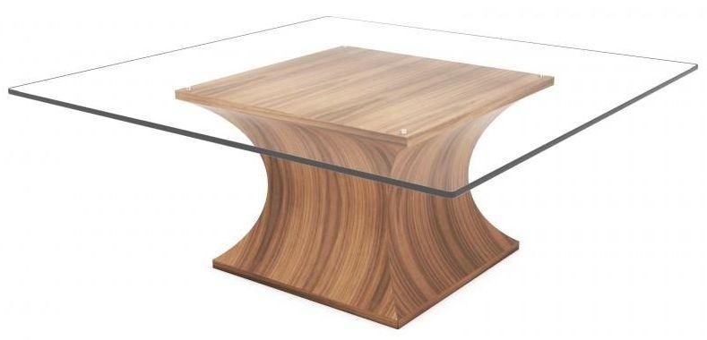 Tom Schneider Estelle Square Glass Top Coffee Table