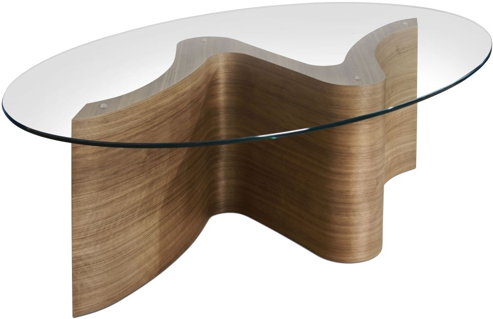 Tom Schneider Serpent Glass Top Coffee Table
